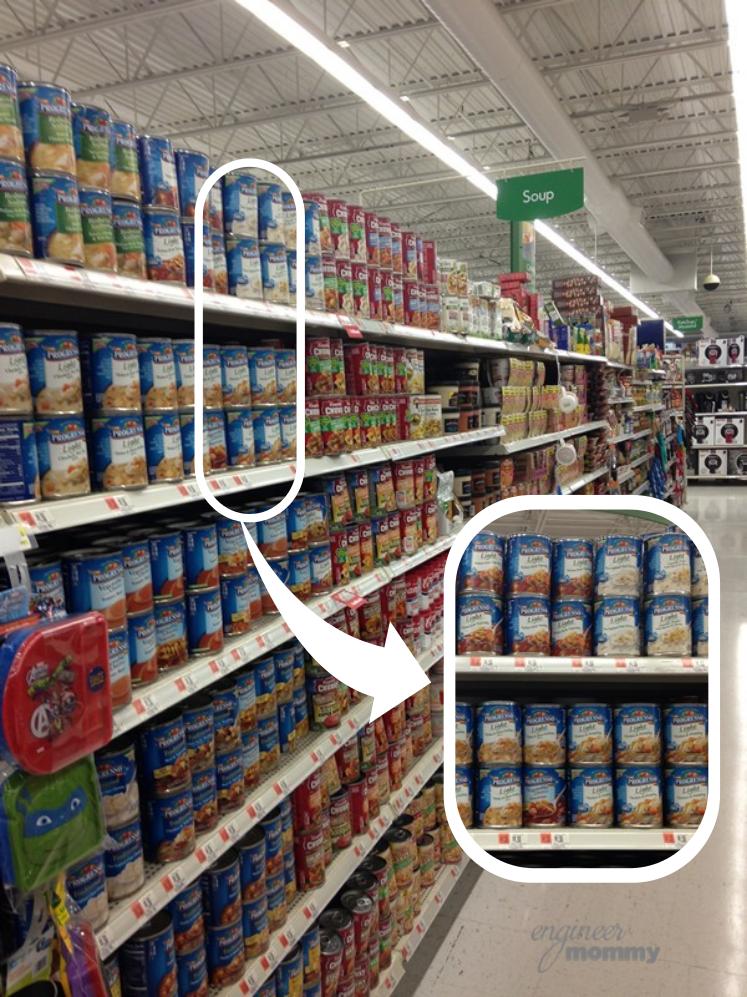 Soup Aisle at Walmart