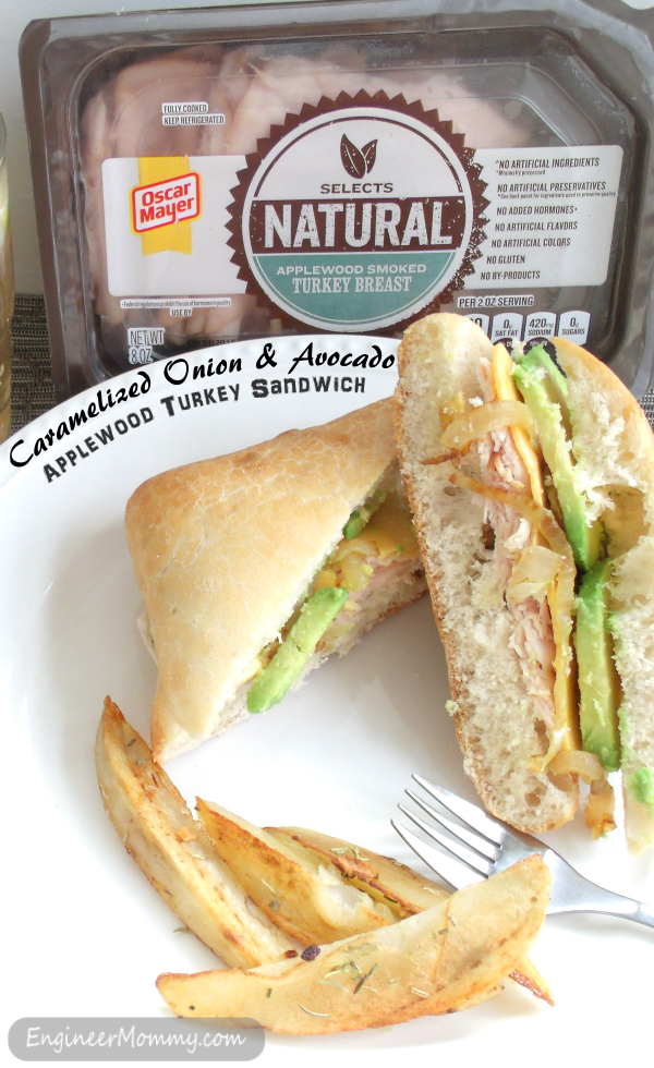 Caramelized Onion & Avocado Applewood Turkey Sandwich