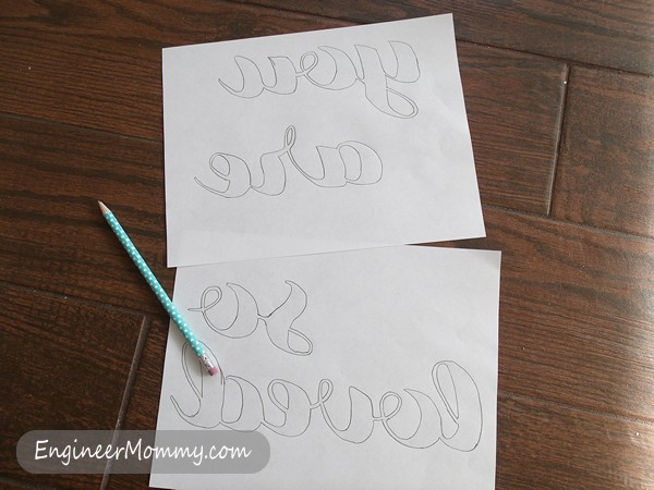 DIY Wall Art {and how to transfer text to canvas}