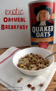 Exotic Oatmeal Breakfast