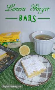 Lemon Ginger Bars and Tips for Combating a Cold