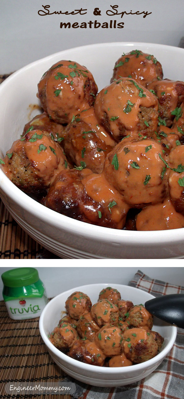 Sweet & Spicy Slow Cooker Meatballs