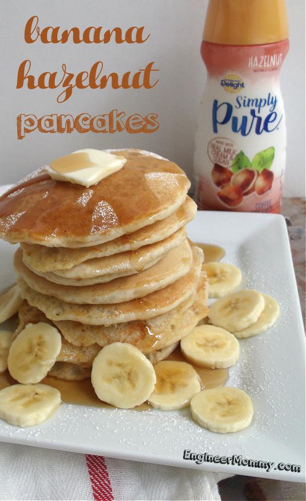 Easy Banana Hazelnut Pancakes