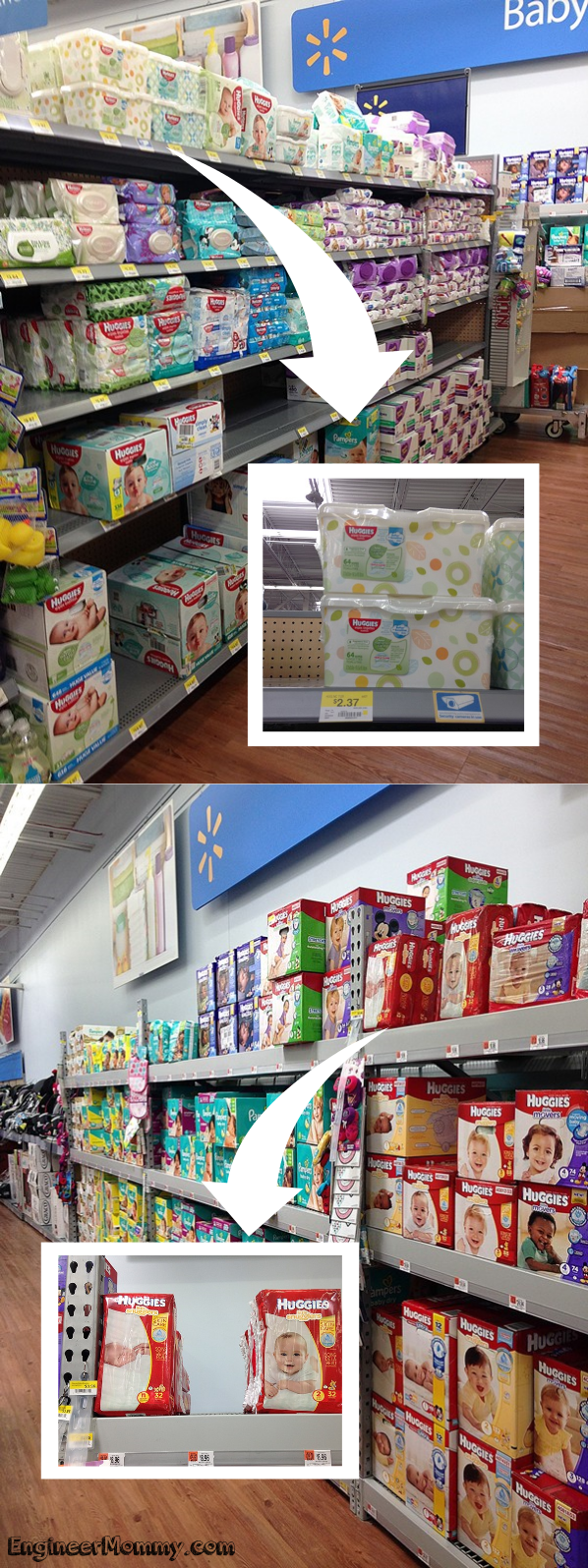 Finding the  Huggies® products at Walmart