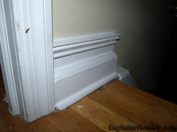 Sprucing up the Baseboards- on a Budget!