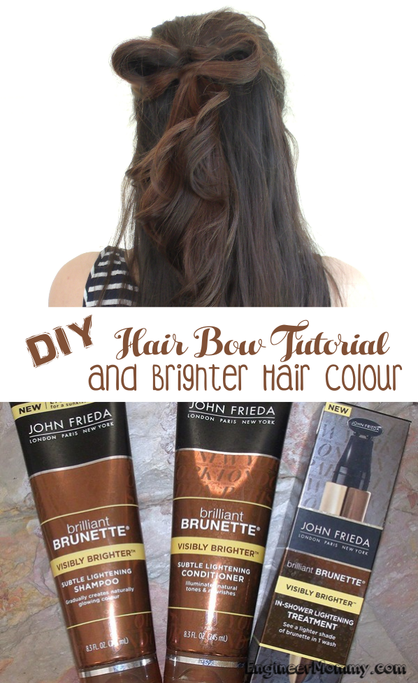 DIY Hair Bow Tutorial & Brighter Hair Colour