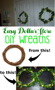 Easy Spring-Themed Dollar Store Wreaths