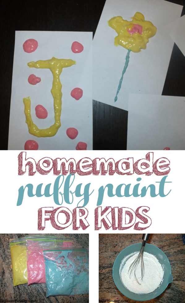 Homemade Puffy Paint for Kids