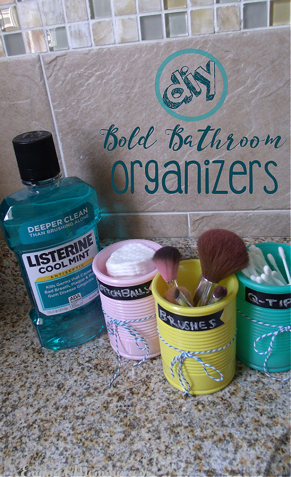 DIY Bold Bathroom Organizers