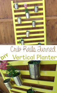 Crib Rails Turned DIY Vertical Planter