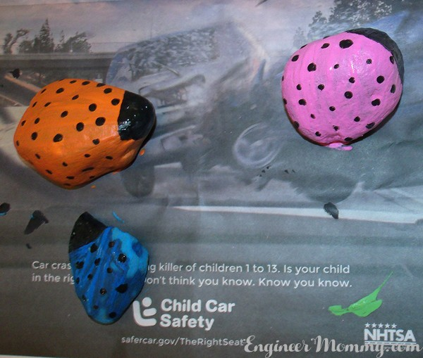 Painted Stone Bugs {a kid's craft}
