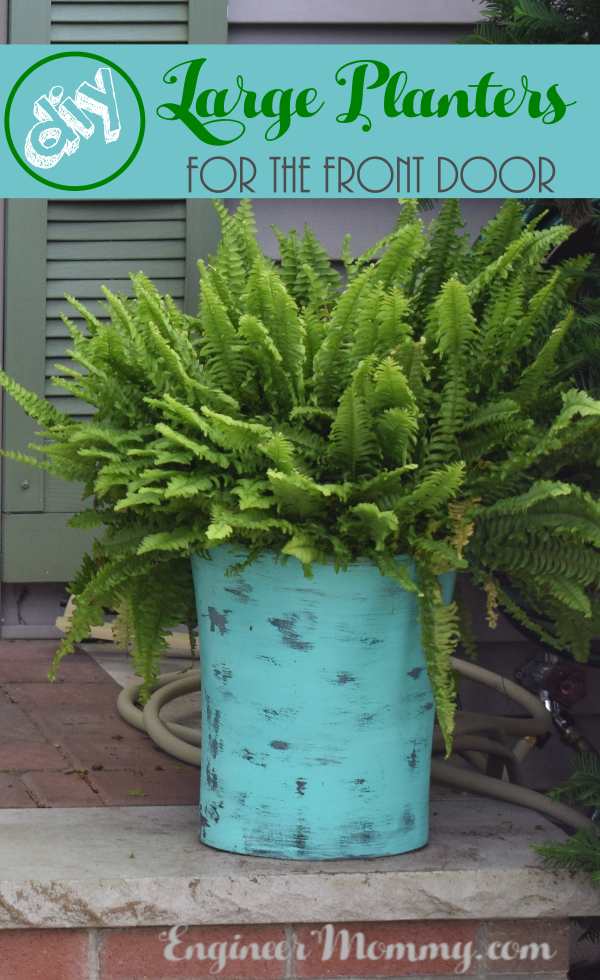 Diy Large Planters For The Front Door Engineer Mommy
