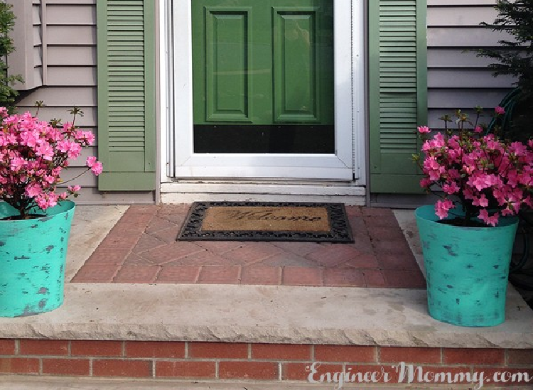 DIY Large Planters for the Front Door