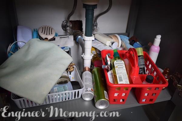 DIY Cabinet Door Organizer