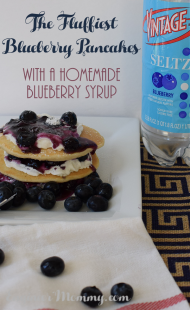 Decadent Breakfast Stack with the Fluffiest Blueberry Pancakes