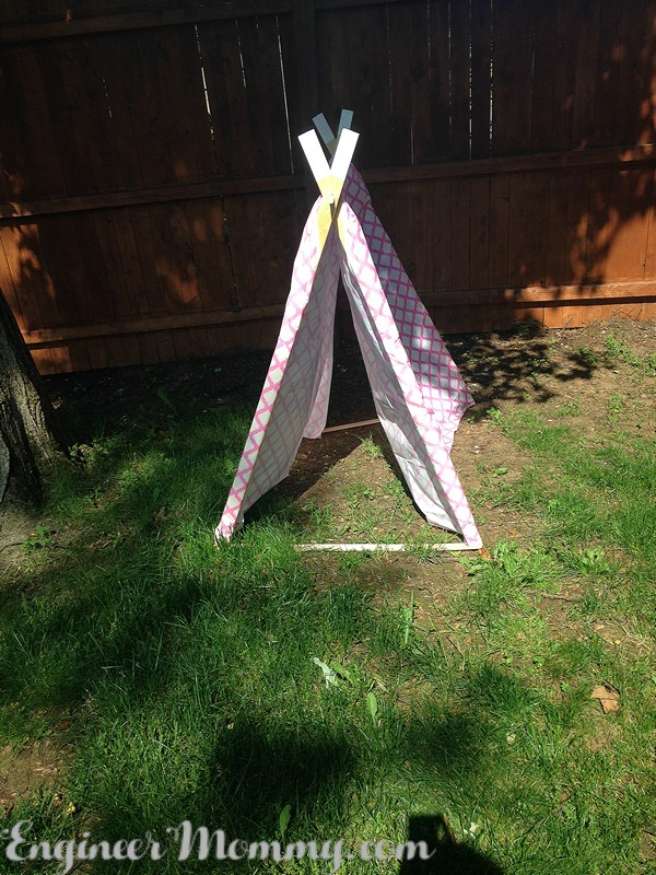 DIY Kid's Play Teepee (The Easiest Way)