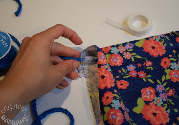 DIY No-Sew Fabric Storage Bags