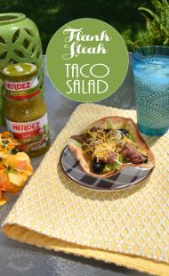Marinated Flank Steak Taco Salad