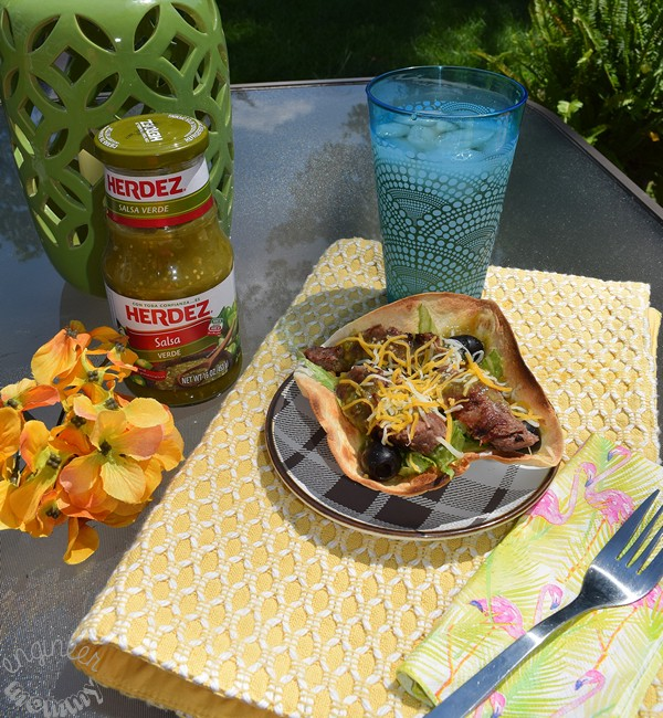 Marinated Flank Steak Taco Salad