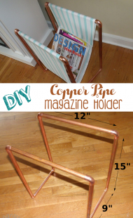 DIY Copper Pipe Magazine Holder