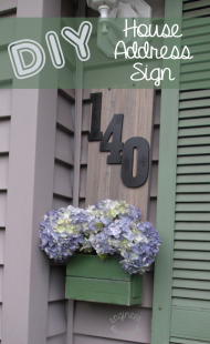 DIY House Address Sign