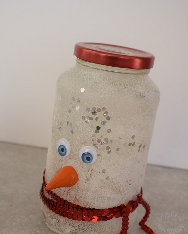 DIY Snowman Mason Jar Luminary