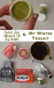 DIY Green Tea Almond Oil Lip Balm