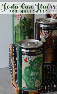 DIY Soda Can Stairs for Halloween