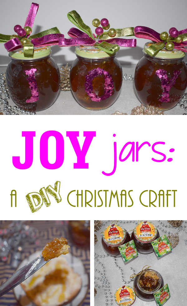 """JOY"" Jars: A DIY Christmas Craft"