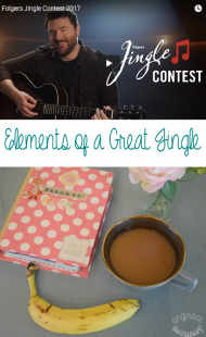 Elements of a Great Jingle & the Folgers Jingle Contest