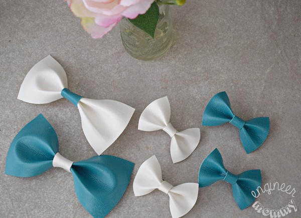 DIY Leather Hair Bows