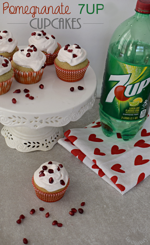 Pomegranate 7UP Cupcakes