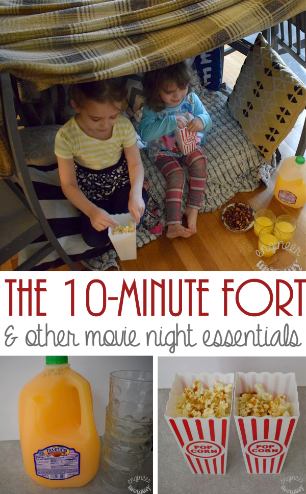 The Ultimate 10-Minute Fort & Other Movie Night Essentials