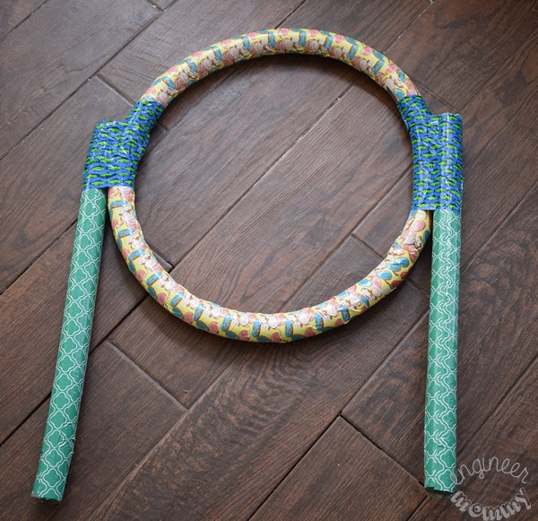 DIY Pool Noodle Outdoor Game