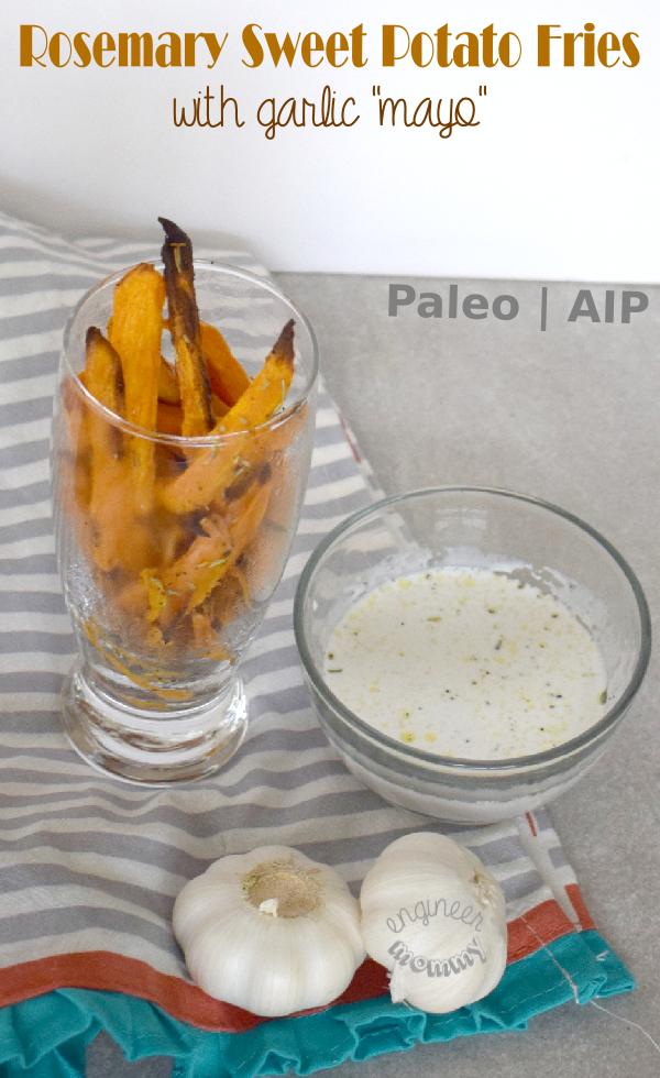 Rosemary Sweet Potato Fries w Garlic Mayo