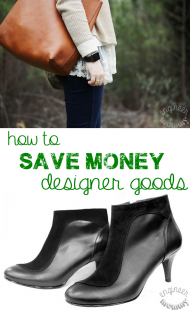 How to Save Money on Designer Goods