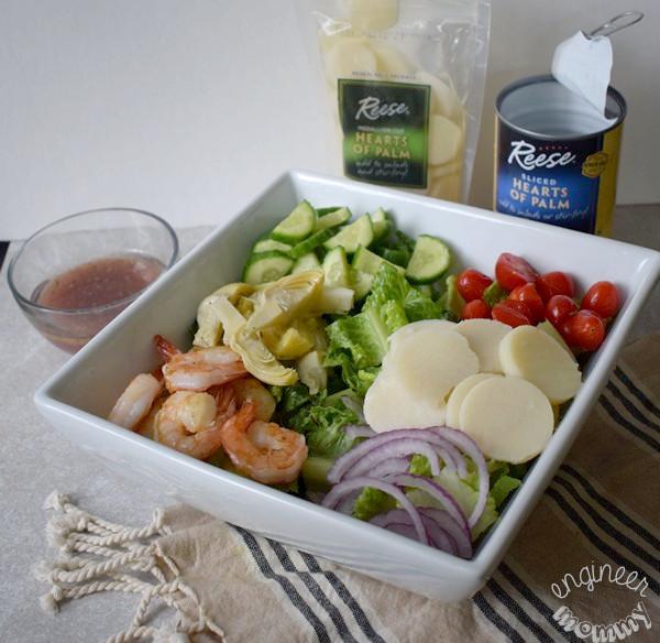 Grilled Shrimp & Hearts of Palm Salad