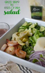 Grilled Shrimp & Hearts of Palm Salad
