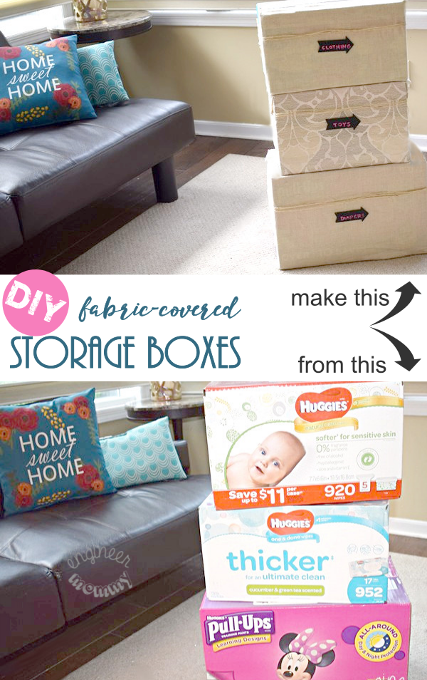 DIY Fabric-Covered Storage Boxes