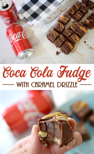 Coca-ColaⓇ Fudge with Caramel Drizzle