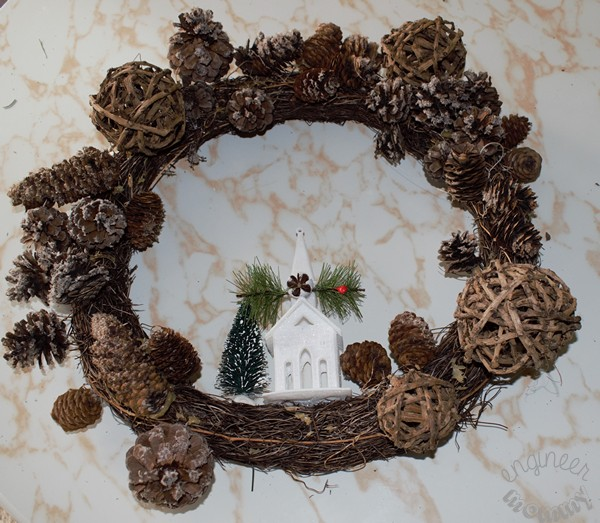 Rustic Christmas Wreath Diy.Diy Rustic Christmas Grapevine Wreath Engineer Mommy