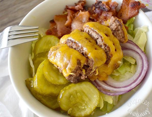Bacon Cheeseburger Salad w/ BigMac Dressing