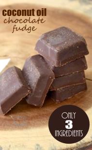 3-Ingredient Coconut Oil Chocolate Fudge