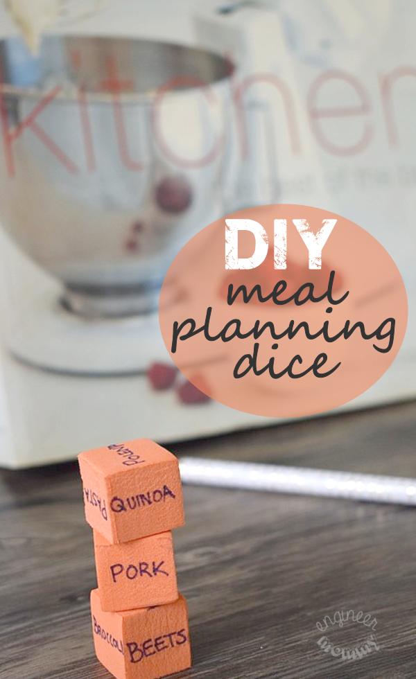 DIY Meal Planning Dice