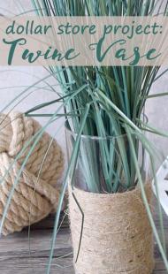 Dollar Store DIY: Twine Vase