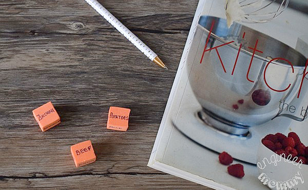 DIY Meal Planning Dice