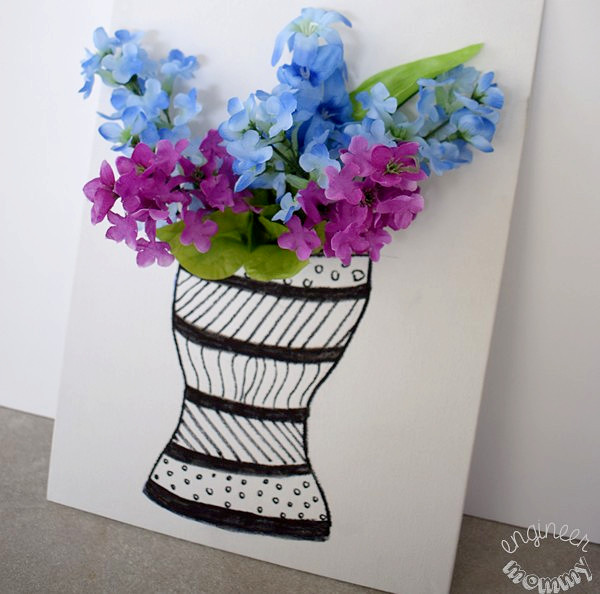 DIY 3-D Floral Canvas