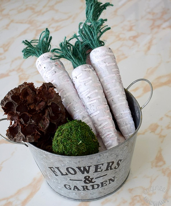 DIY Farmhouse Carrots | Dollar Store Decor