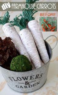 DIY Farmhouse Carrots | Dollar Store Decor