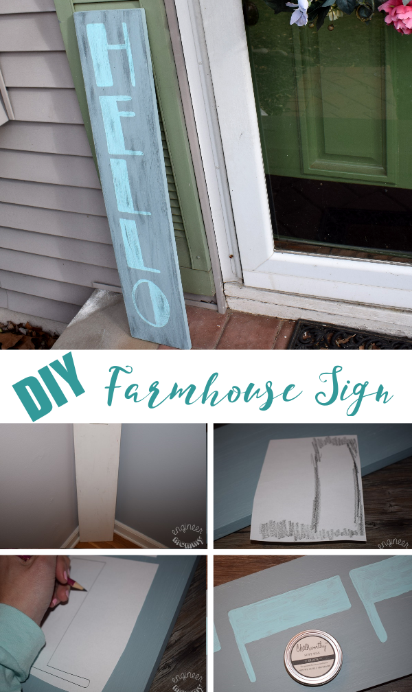 DIY Farmhouse Welcome Sign